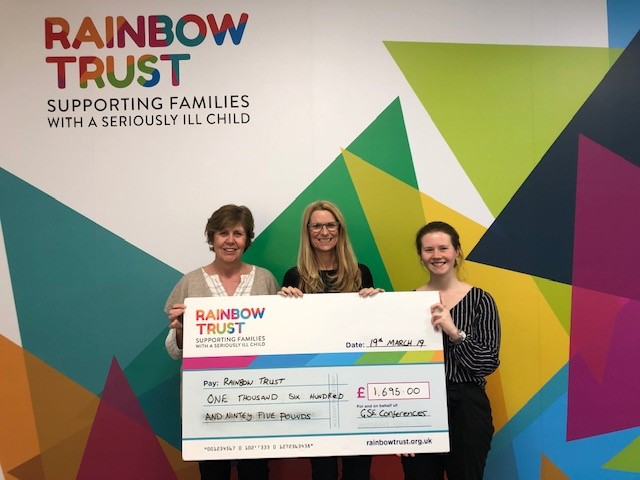 GSE cheque for Rainbow Truse